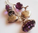 Vintage Silver A Vision in Violet Charm Necklace